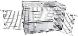 Hunde-Autobox-Zimmerkennel-XXL-2-tuerig-Qualitaet-sz206-Transportbox-Hundebox