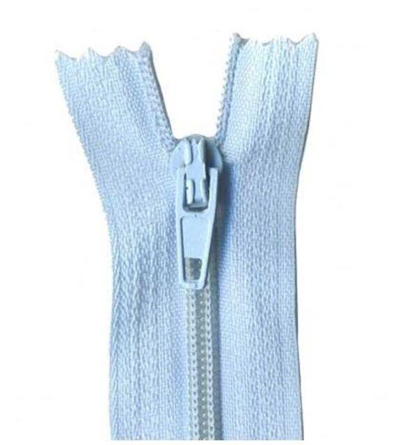 40cm Dusty Blue Dress Zip
