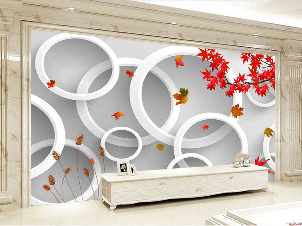 Scattered Maple Leaves 3D Full Wall Mural Photo Wallpaper Printing Home Kids Dec