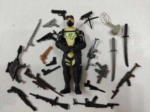 "3.75/"" Gi Joe Night Ninja with 5pcs Weapons Rare Action Figure"