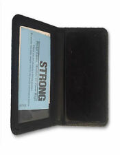 Black Leather Bi Fold Shield Badge Walletcase With Id Card Window Holder Police