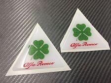 2 Adesivi Stickers ALFA ROMEO Quadrifolgio verde 3 cm logo Green Carbon