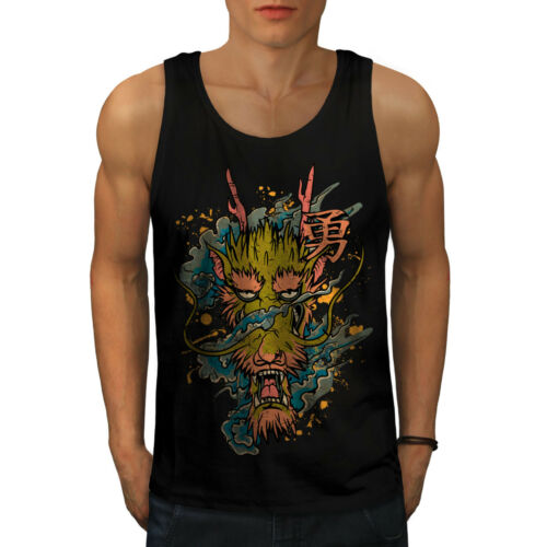 mal Active Sports Shirt Wellcoda Dragon Asiatique mythe Homme Tank Top
