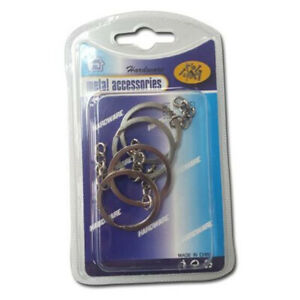 Pack-Of-3-Split-Ring-With-Chain-For-Key-Rings-28mm-DIY-Your-Own-Keychain