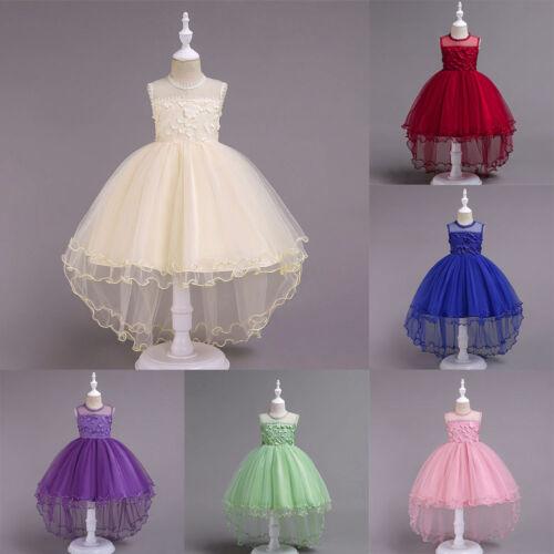 High Low de bal robe de bal Dentelle Fleur Filles Mariage première robe de communion pour enfants