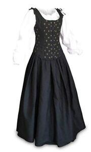 Falda Blusa Renacimiento Negro Y Camisa Medieval O Pirata
