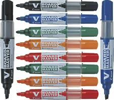 Pilot V Board Master Whiteboard Marker Pens Bullet Tip Chisel Tip