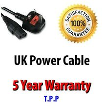 UK Mains Ac Power Cord Cable for Samsung Toshiba LG Sharp Sony TV LCD Plasma DLP