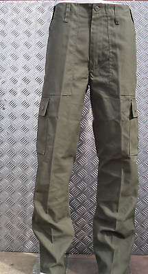 """Green Military Style Combat Cargo / Utility / Field Trousers Size 32""""-36"""" - New"""