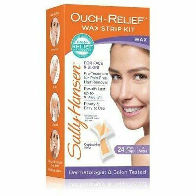 Sally Hansen Ouch Relief Wax Strip Kit For Face Bikini