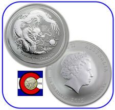 2012 Lunar Dragon 1 oz Silver Coin, Series II from Perth Mint in Australia