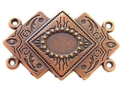 Metall Anhänger 5,4 x 3,3cm Farbe: Kupfer Tribal