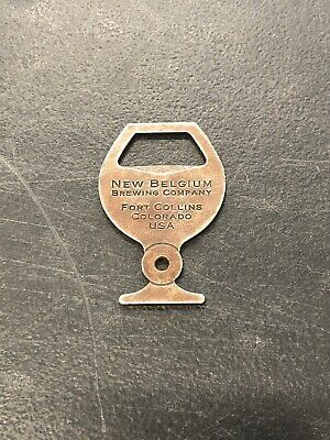 COLORADO Metal Bottle Opener ~ NEW BELGIUM Brewery Fat Tire Ale ~ Fort Collins