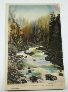Vintage Skykomish River Early 1900s Rare Unposted Antique Postcard Collectible
