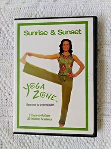 Details about YOGA ZONE –SUNRISE AND SUNSET- BEGINNER TO INTERMEDIATE- DVD,  R-1, LIKE NEW