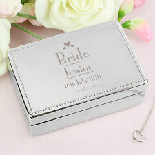 Small Personalised Decorative Wedding Bride Jewellery Box Gift Wedding Gift Idea