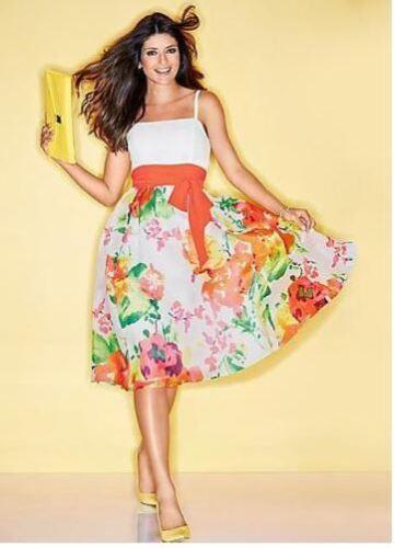KALEIDOSCOPE retro 50s style orange floral party evening PROM DRESS UK 12 EU 40