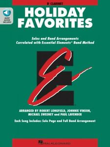 Wind & Woodwinds Musical Instruments & Gear Essential Elements Holiday Favorites Bb Clarinet Book And Audio 000870007