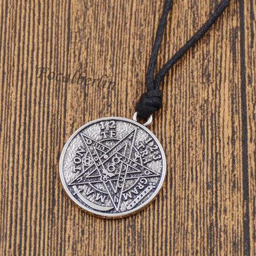 Supernatural Pentagramm Anhänger Halskette Rund Retro Herrenschmuck Dame Schmuck