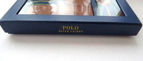 POLO  RALPH  LAUREN GENUINE  LEATHER WALLET /& KEY FOB  GIFT SET BOX