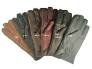 Men-039-s-GENUINE-SHEEPSKIN-soft-leather-winter-gloves-w-fleece-lining-S-2XL