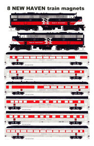 New Haven Yankee Clipper FL9s and Train 8 magnets by Andy Fletcher