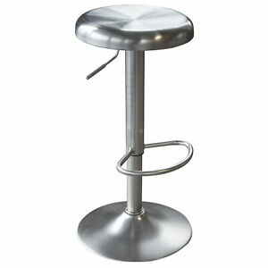 Astonishing Details About Amerihome Loft Stainless Steel Adjustable Bar Stool 13 75Inch Seat W 360 D Caraccident5 Cool Chair Designs And Ideas Caraccident5Info