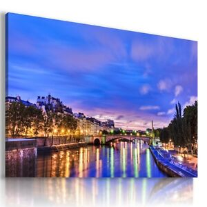 FRANCE-PARIS-EIFFEL-TOWER-View-Canvas-Wall-Art-Picture-Large-SIZES-L9