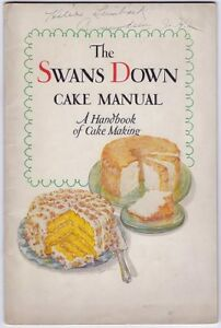 Image Is Loading Swans Down Cake Manual A Handbook Of