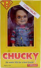 "TALKING CHUCKY Child's Play 2 Movie 15"" inch Mega Scale Doll Figure Mezco 2014"