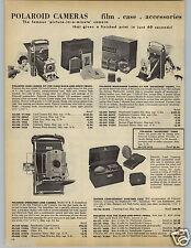 1959 PAPER AD Polaroid Land Camera Highlander Speedliner Jason Binoculars Scope