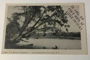 Little-Falls-NY-Postcard-Mohawk-River-1900s-Antique-PC-Vintage-New-York-Old