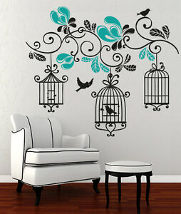 adesivi muro  00845 Wall Stickers Sticker Adesivi Muro Murali Gabbiette in ...