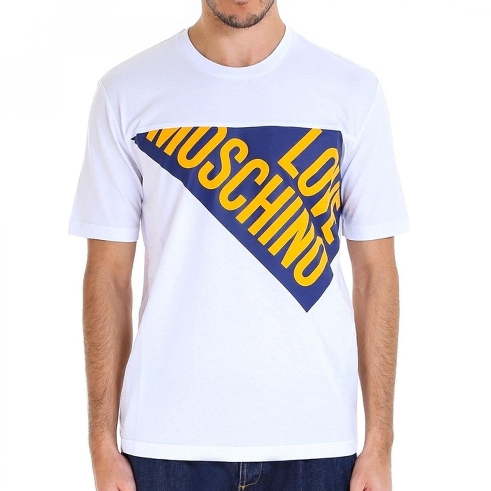 Love Moschino Weiß Angled Logo T Shirt M476701M3876 A00