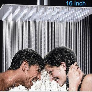 Duschkopf-Kopfbrause-Edelstahl-Regendusche-Regenbrause-Brausekopf-16-Zoll-Chrom
