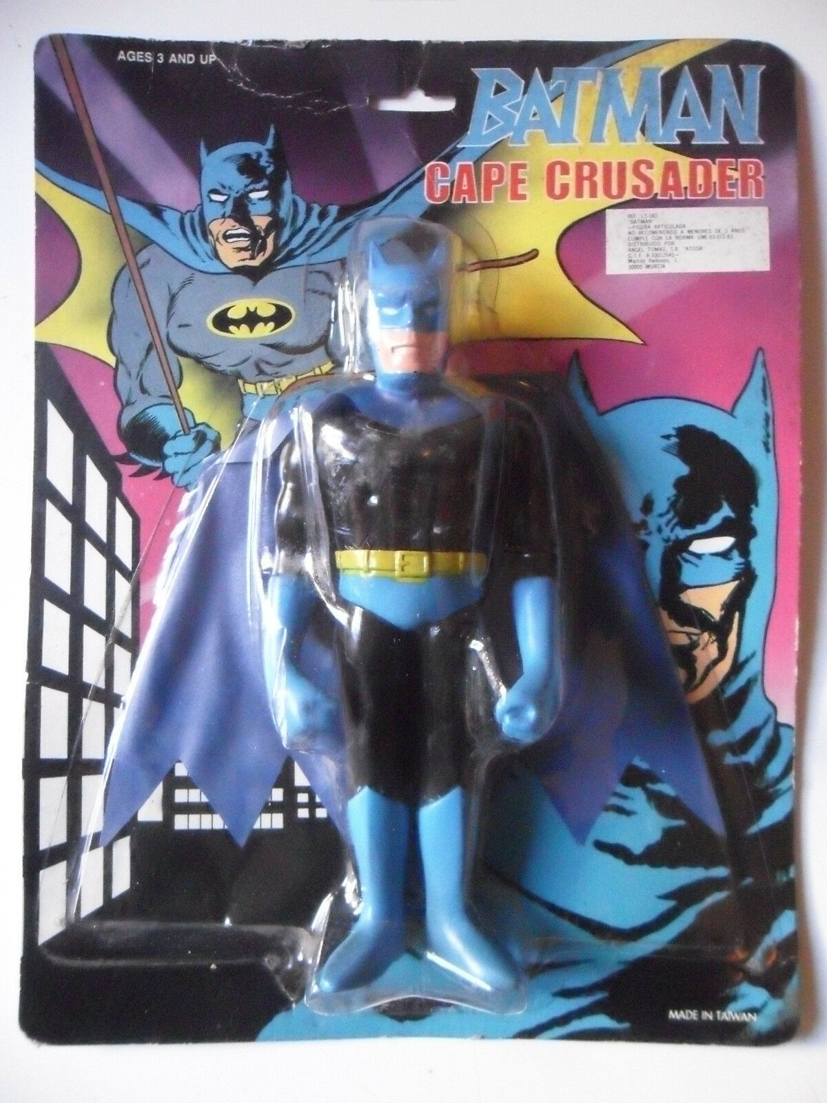 RARE VINTAGE BATMAN CAPE CRUSADER StiefelLEG FIGURE SEALED ON CARD
