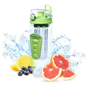 Fruit Infuser Water Bottle - 32 oz - BPA Free Fruit Infused Water Bottle