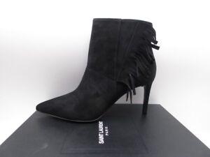 46617f1789d Yves Saint Laurent Paris 80 Fringe Ankle Boots Booties $995 39 9   eBay