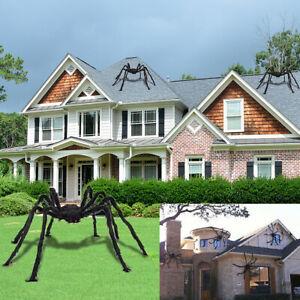 Details About 5FT/150cm Giant Black Spider Halloween Decor Haunted House  Prop Indoor Outdoor