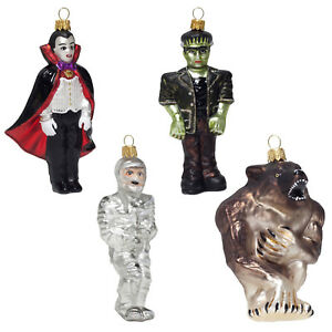 Horror-Monster-Baubles-Mouth-Blown-Glass-Christmas-Tree-Decorations