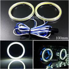 12V 100mm White LED Car Daytime Running Angel Eyes Halo Ring Light Waterproof