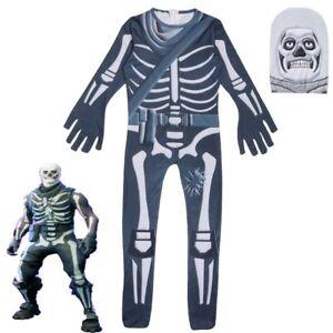 Fortnite Halloween Costume Skull Trooper For Kids Boys Skeleton