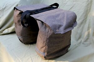 NEW Huffy Cruiser Roll Up Pannier Rear Rack Saddle Bags Brown w// Shoulder Strap