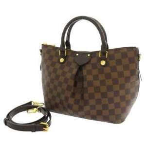 LOUIS-VUITTON-Siena-PM-Handbag-Damier-Ebene-Red-N41545-Shoulder-Bag-2-Way-France