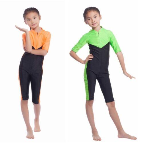 UK Kids Girls Muslim Islamic Modest Swimwear Full Body Swimsuit Swimming Costume