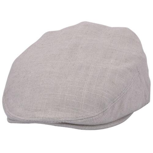 Adults Lightweght  Linen Summer Flat Cap Hat