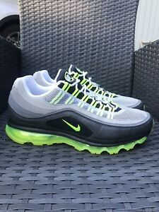 Nike-Air-Max-24-7-RARE-Men-s-Size-11-5-398252-002-Black-Grey-Neon-Volt-OG-VNDS