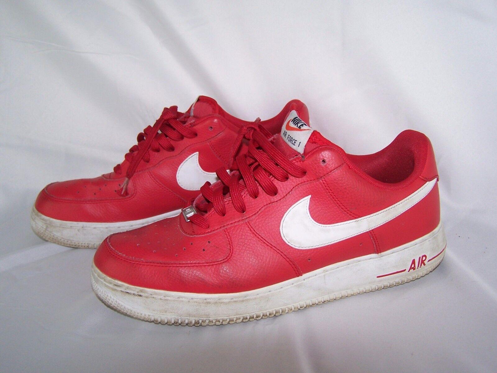 Nike Force 1 Baja Rojo y Air Blanco Tenis De Hombre Zapatos  Tenis Blanco f21491