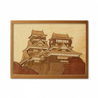 Japanese Wood Collage 3D-Art Handmade Kit the Palace of Versailles Craft 30x21cm