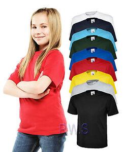 Uneek-Childrens-T-Shirt-Unisex-Tee-Soft-100-Cotton-School-PE-Boys-Girls-UC306